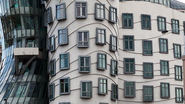 Architecture, Art, Building, Windows, Czech, Dancing