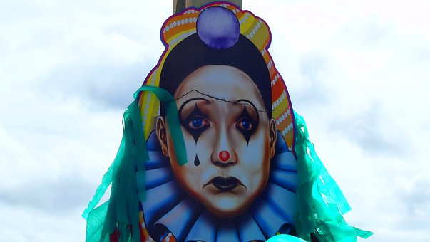 Carnival, Masks, Fun, Face, Expression, Pierrot, Head