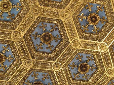 Gold, Ceiling, Museum, Architecture, Interior, Classic