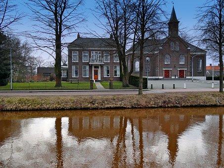 Stadskanaal, Netherlands, Church, House, Architecture