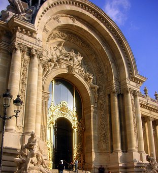 Archway, Arched, Architecture, Gold Door, Decorative