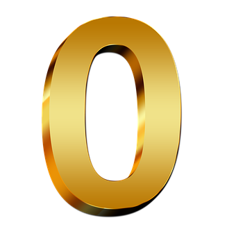 Pay, Gold, Null, Number, Digit, 3d, Light, Fill, Mass