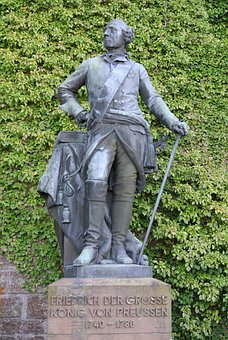 Frederick The Great, Prussia, Statue, Figure, King