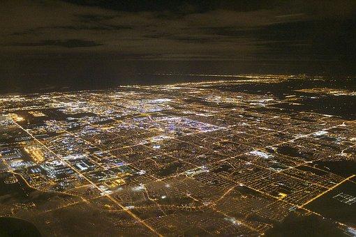 Toronto, Flight, City, City Lights, Cityscape, Canada