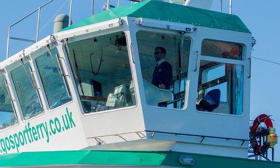 Ship's Bridge, Captain, Gosport Ferry, Travel, Ship