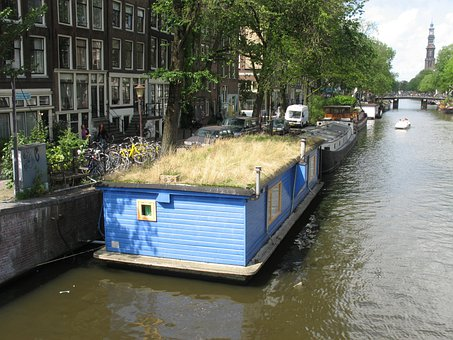 Amsterdam, The Barge, Channel, House On The Water