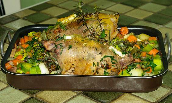 Pheasants, Vegetables, Hunting, Game, Roast
