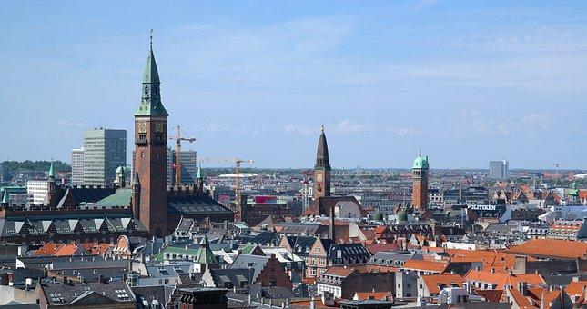City, Copenhagen, Take, Hust Up, Overview, View, Church
