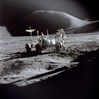 Moon, Moon Rover, Moon Buggy, Astronaut, Nasa