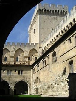 Palace Of The Popes, Avignon, Vaucluse, France, Palace