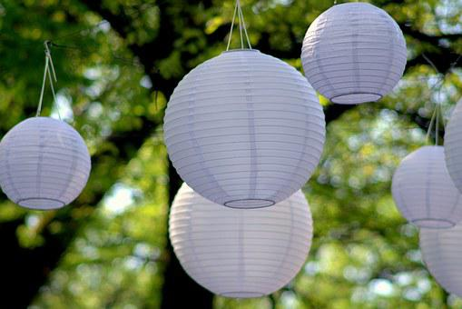 Lanterns, Paper, Balls, White, Delicate, Air, Event