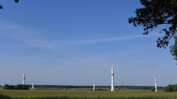 Wind Power, Pinwheel, Construction Phase, Landscape
