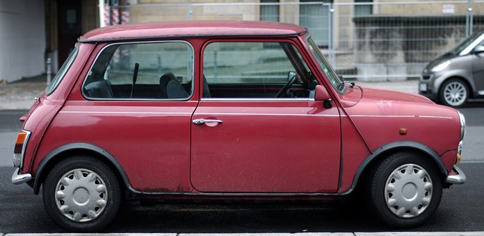 Car, Old Car, Germany, Red, Red Car, Mini, Rover