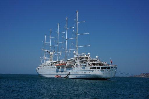 Sailing Yacht, Ship, Wind Surf, Five Master
