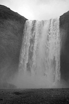 Waterfall, Iceland, Enormous, Skogafoss, Impressive