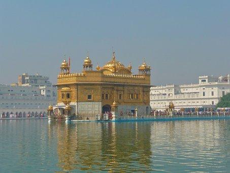 Amritsar, India, Temple, City, People, Faithful