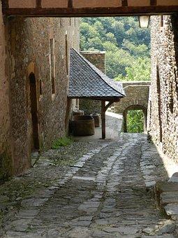 Lane, Pavement, Village, Medieval Village