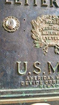 Letter Box, Antique, Vintage, America, American