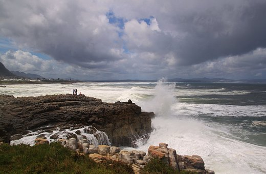 Coast, Rocky Coast, Sea, Wave, Spray, Surf, Rock, Rocky
