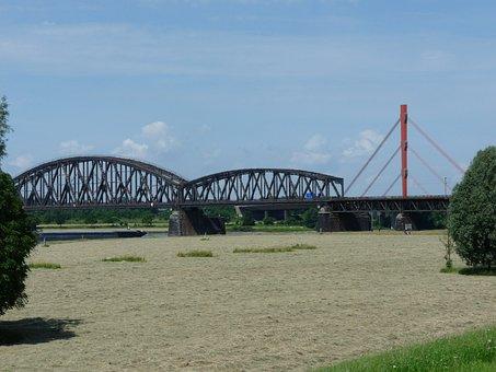 Bridge, Railway Bridge, Arch Bridge, Arch, Rhine