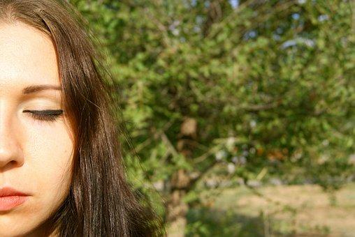 Girl, Person, Makeup, Closeup, Eye, Bright
