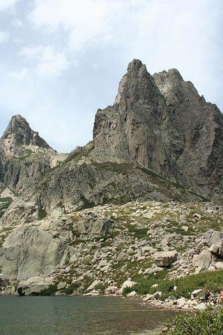 Corsica, Lake, Restonica, Rock, Mountain, Landscape