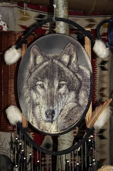 Indians, Dream Catcher, Wolf, Indian, Culture