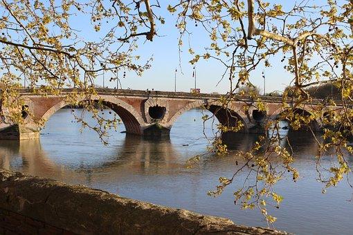 Bridge, Rio, France, Garonne, Eventide