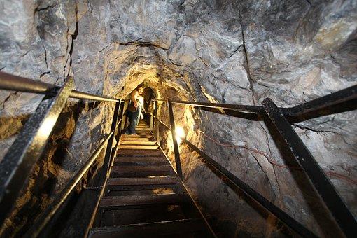 Mountain, Catacomb, Gang, Underground, Rock