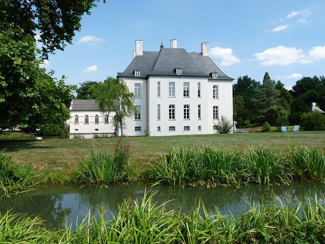 Castle, Moated Castle, Gartrop, Niederrhein