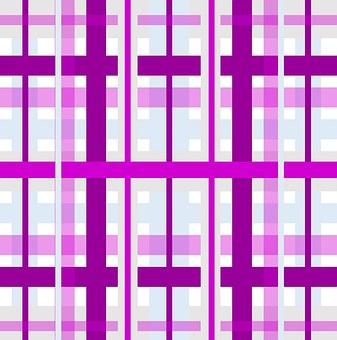 Gingham, Plaid, Purple, Lavender, Grey, White