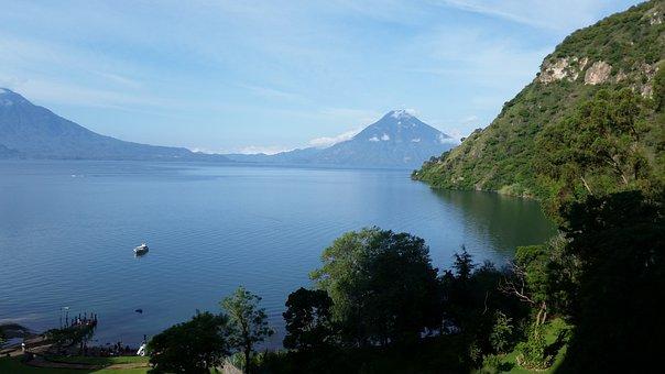 Lake Atitlan, Panajachel, Solola, Guatemala
