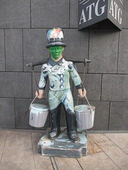 Hamburg, Sculpture, Artwork, Hummel Hummel