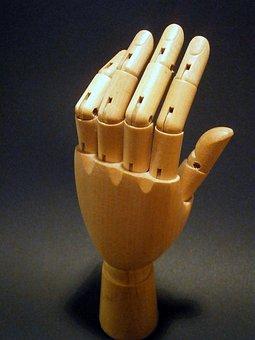 Finger, Hand, Wood, Links Hand, Joints, Joint, Art