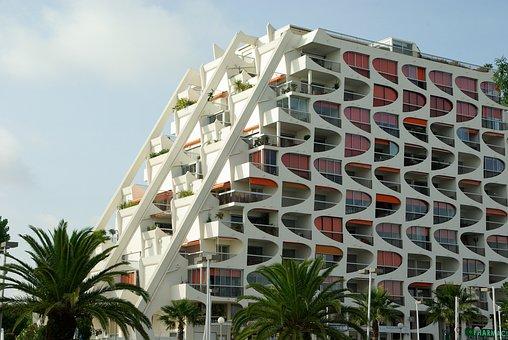 France, La Grande Motte, Modern Architecture, Building