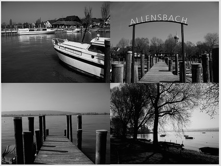 Allensbach, Lake Constance, Germany, Port, Web, Ship