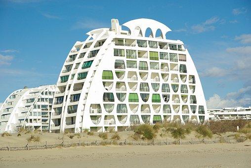 Modern Architecture, France, Beach, Montpellier