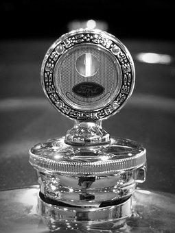 Oldtimer, Emblem, Ford, Logo, Silver, Cool Figure