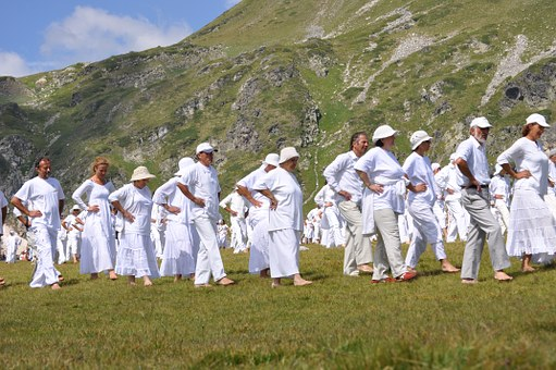 Paneurhythmy, Dance, Mountain, Rila, Bulgaria, People