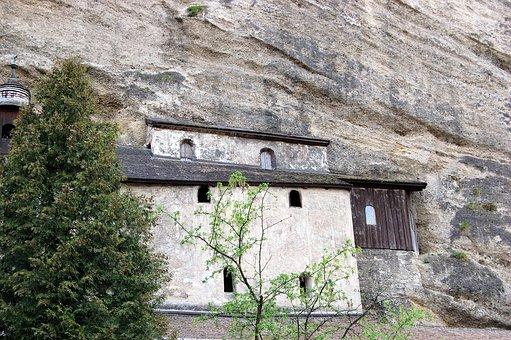 Salzburg, Catacombs, St, Peter, Rock, Mönchberg