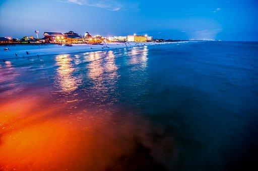Beach, Scenes, Okaloosa, Island, Fishing, Surfing, Pier