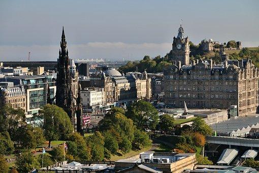 Edinburgh, Castle View, Scotland, Calton Hill