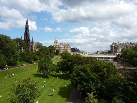 Edinburgh, Princess Street, Scotland, City, Tourism