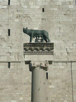Romulusz, Statue, Remus, Sculpture, Italian, Wolf