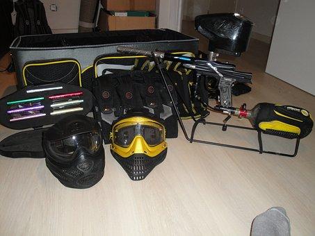 Paintball, Equipment, Sport Game, Shooting, Gun, Mask