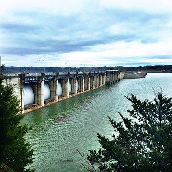 Dam, Lake, Water, Sky, Wolf Creek, Cumberland