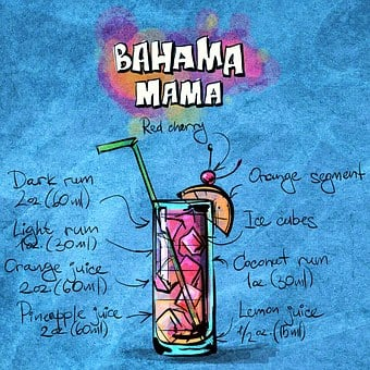 Cocktail, Bahama Mama, Alcohol, Party, Recipe, Drink