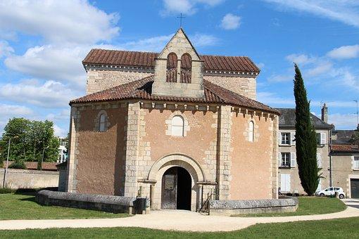 France, Poitiers, Roman, Baptistry, Historic
