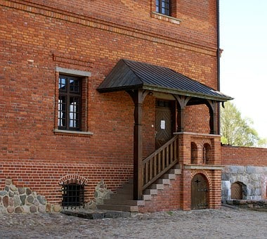 The Door, Stairs, Castle, Lake Dusia, Entrance, Brick