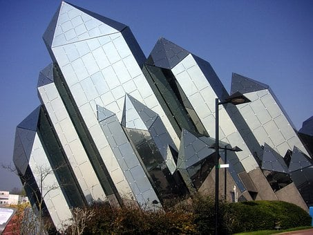 Futuroscope, Poitiers, France, Futuristic, Building
